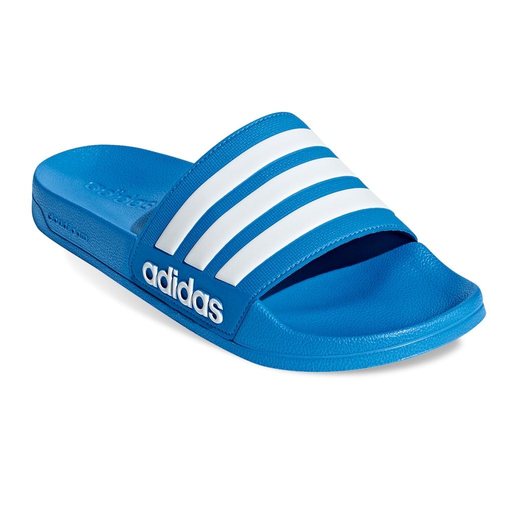 adidas Adilette Shower Men's Slide Sandals, Size: 10, Blue