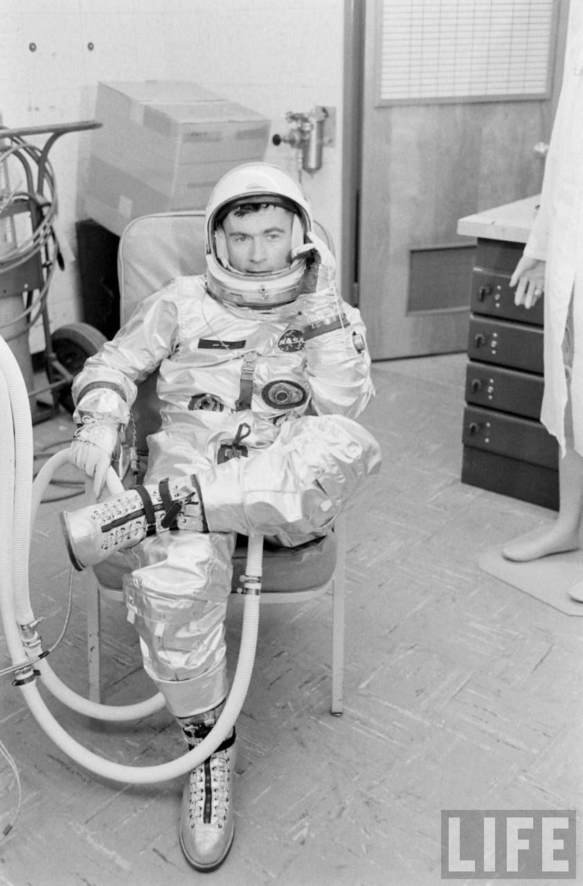 Astronaut John Young training for Gemini 3 Astronaut