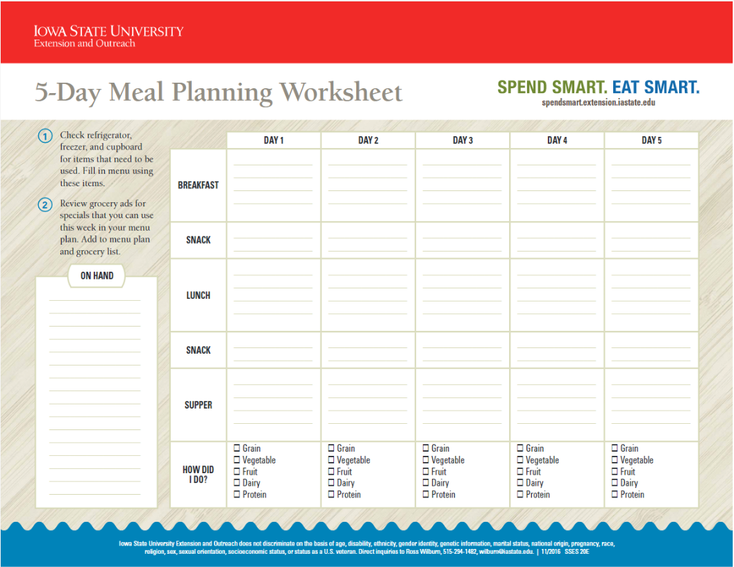 Broccoli Or Carrots Meal Planning With Kids Via Iowa