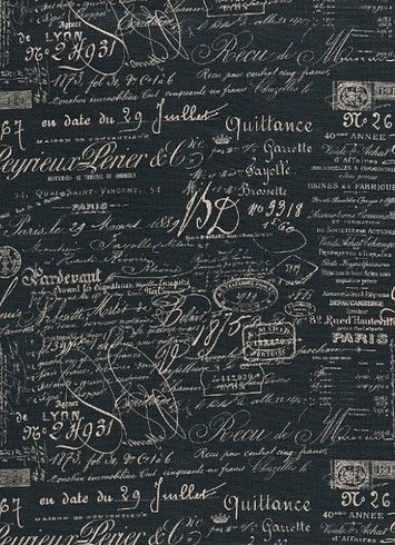excellent french script fabric by the yard. Script Blueprint  document French laundry script fabric 19 95 yd