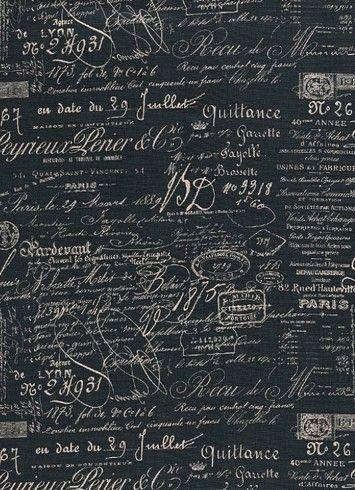 Script Blueprint - document French laundry script fabric