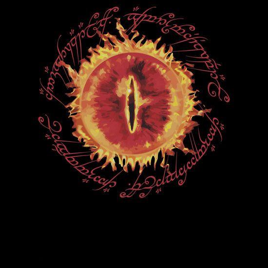 """Sauron's Eye v2 B"" T-Shirts & Hoodies by batiman | Redbubble"