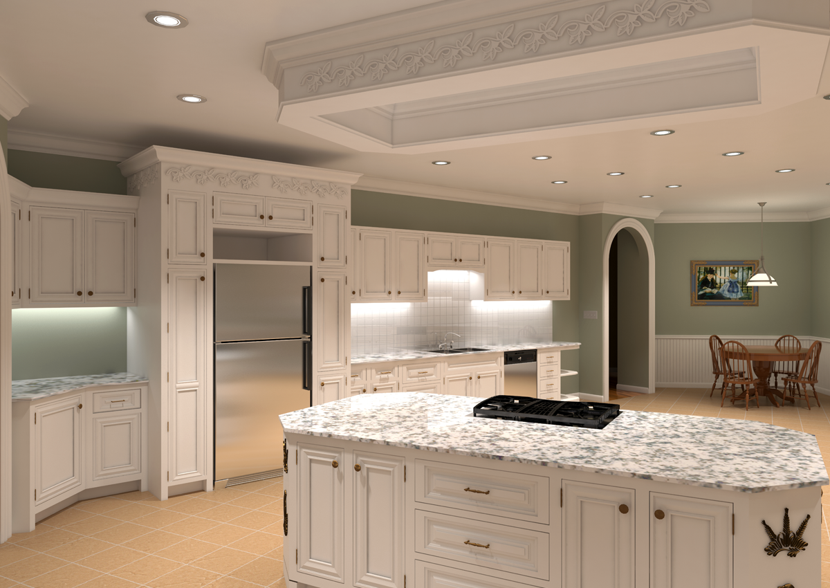 High End Kitchens High End Residential Kitchen White Microvellum Pict