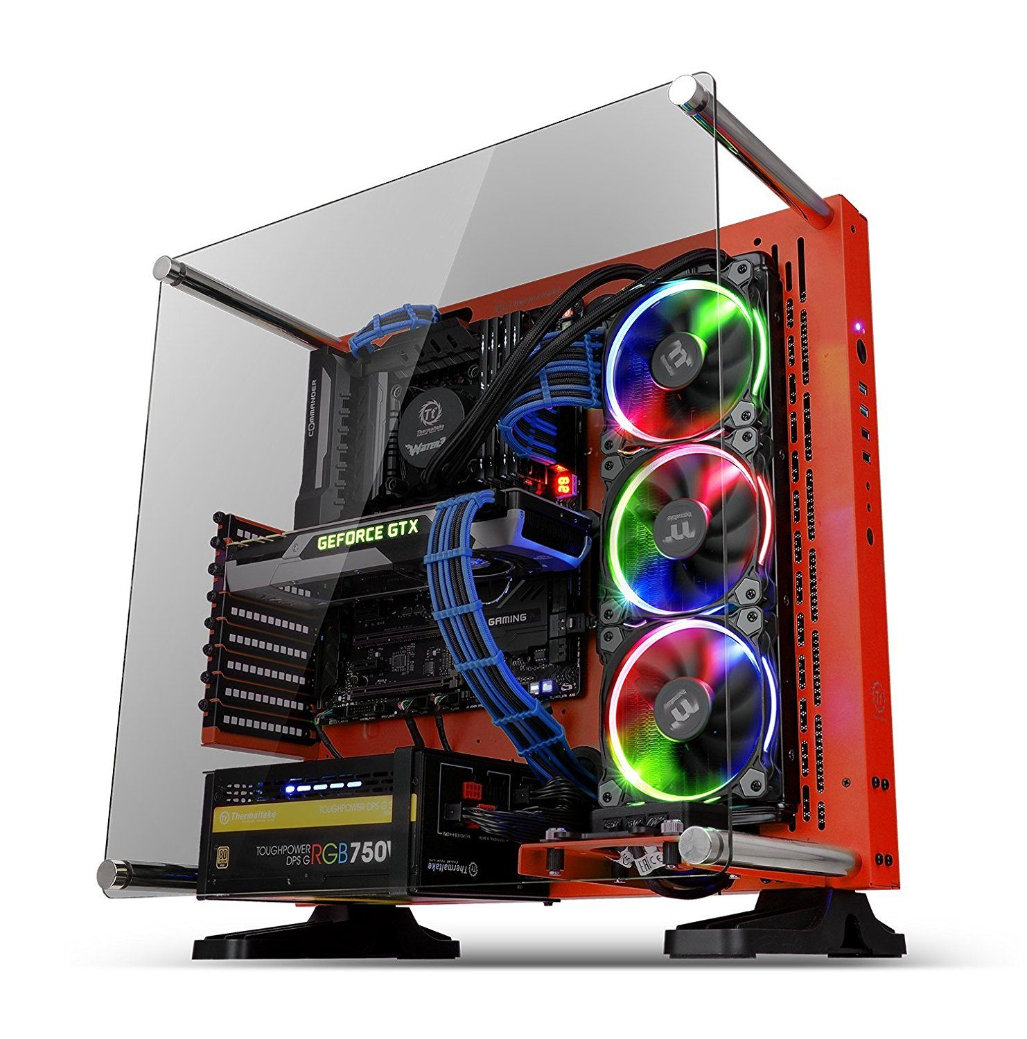 Thermaltake Core P3 Atx Tempered Glass Gaming Computer Case Chassis Open Frame Panoramic Viewing Glass Wall Mount Riser Ca Computer Case Open Frame Mini Itx