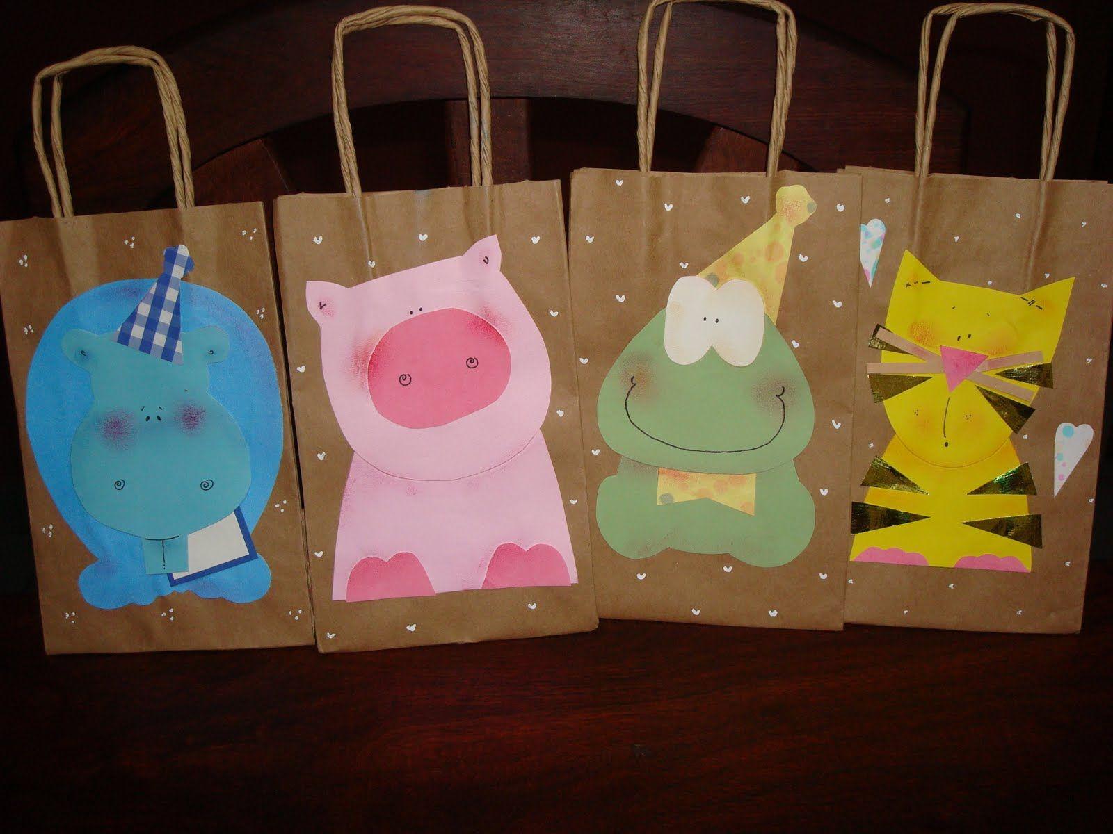 d66c0dd40 tela, papel y tijera: Bolsas para cumpleaños | Ideas para el hogar ...