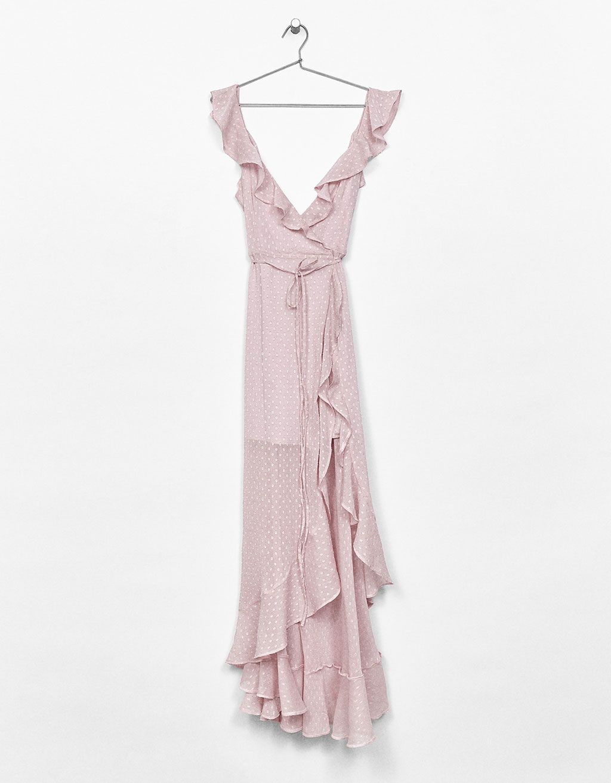 tienda oficial estilo moderno diseño profesional Vestido plumeti cruzado volantes | Tiernos | Vestidos ...