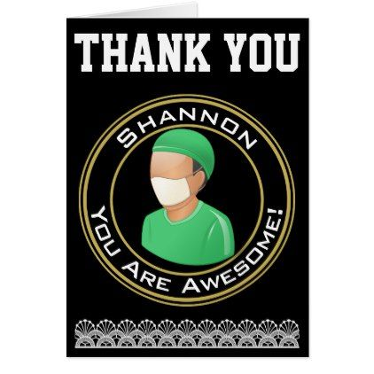 Personalized Thank You for Surgeon Doctor Card - thank you gifts ideas diy thankyou