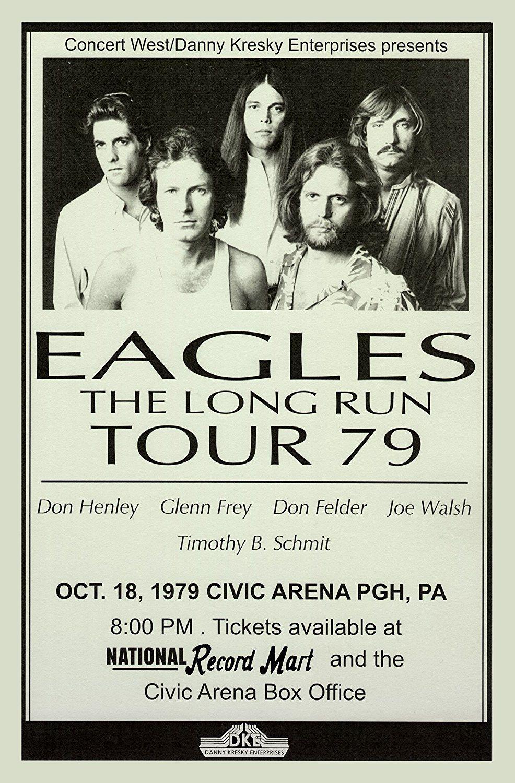 0653 Vintage Music Poster Art Eagles Tour 1979