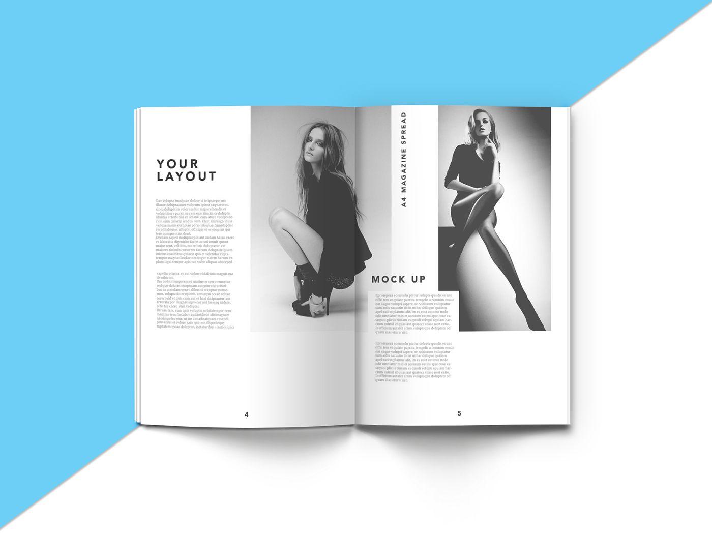 A4 Magazine Mock Up On Behance Magazine Mockup Brochure Mockup Free Brochure Mockup Psd