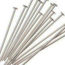 100 Silver Headpins for all your jewelry crafting needs!