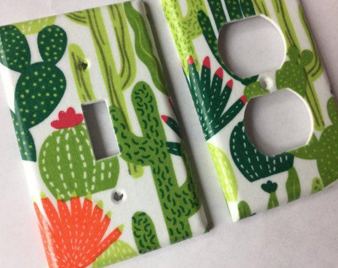 Cactus Decor, Light Switch Cover, Succulent Gift, Cactus Decor, Cactus Wall Art, Cactus Gift, Succulent Decor, Succulent Arrangement, Gift