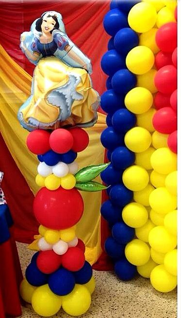 Snow White Balloon Column Snow White Party Snow White Birthday