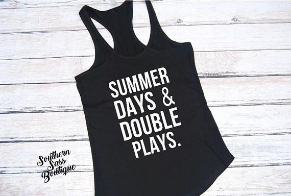 2f3f5e525a66 Summer days and double plays Baseball mom Softball mom