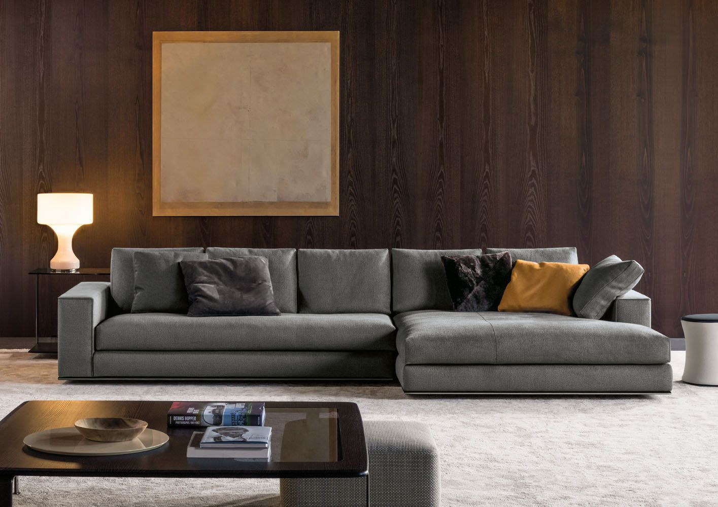 Poltrona Frau Leather PostModern Italian Sofa Leather