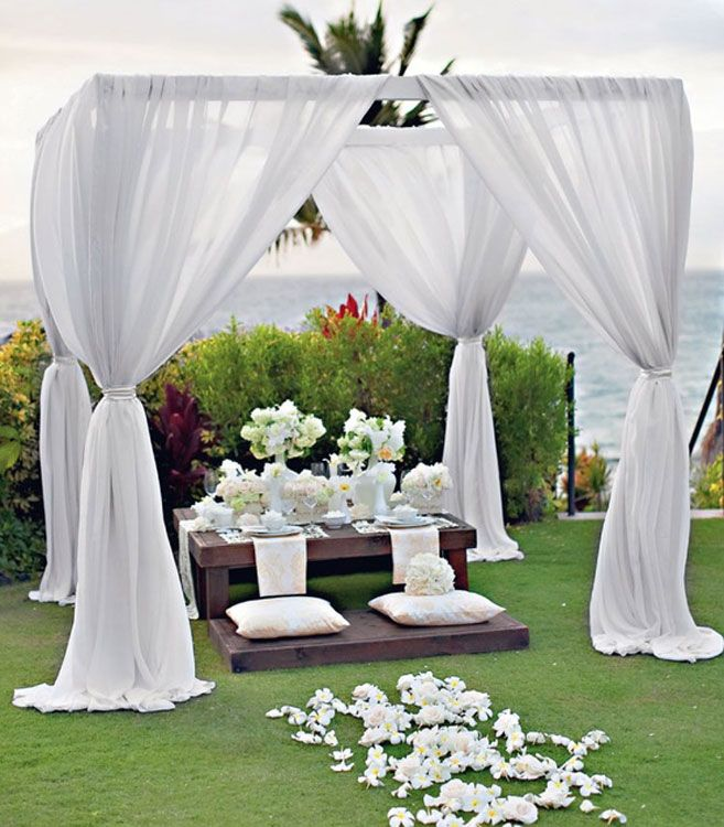 28 outdoor wedding decoration ideas wedding decorations for Backyard wedding ceremony decoration ideas