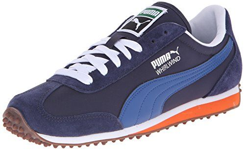 Puma Whirlwind Classic Mens White Black Sneakers
