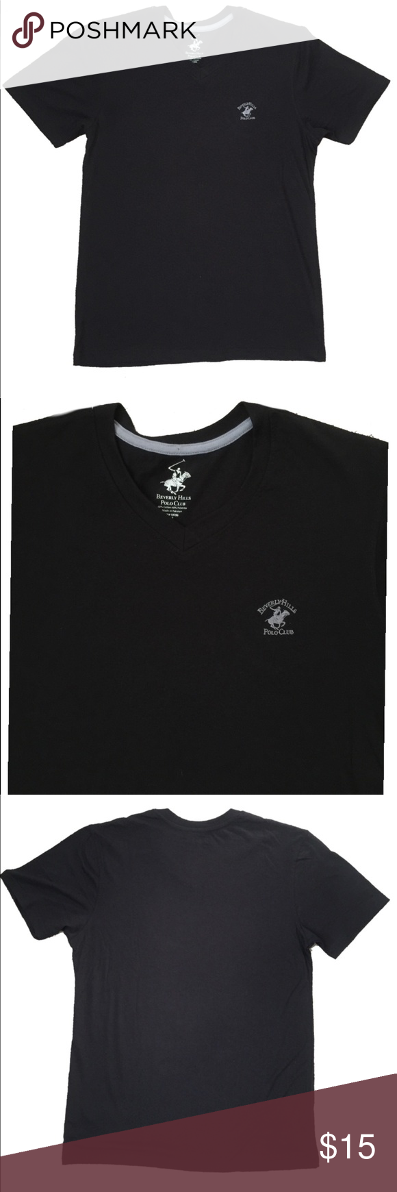 Beverly Hills Polo Club Men's V Neck Tee medium This
