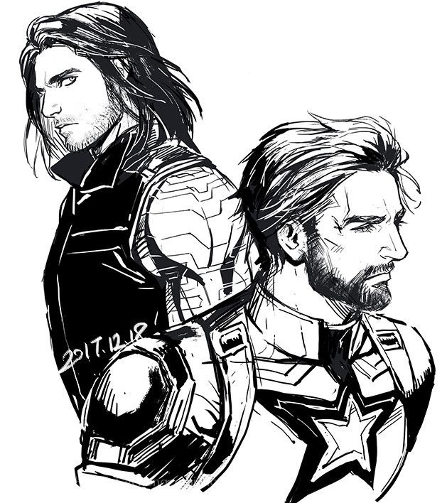 The Winter Soldier & Captain America ~ Bucky & Steve | The Winter ...