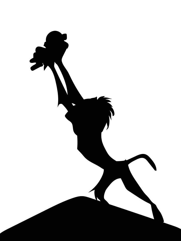Lion King Silhouette Graphic T Shirt By Upbeat Lion King Drawings Lion King Art Lion King