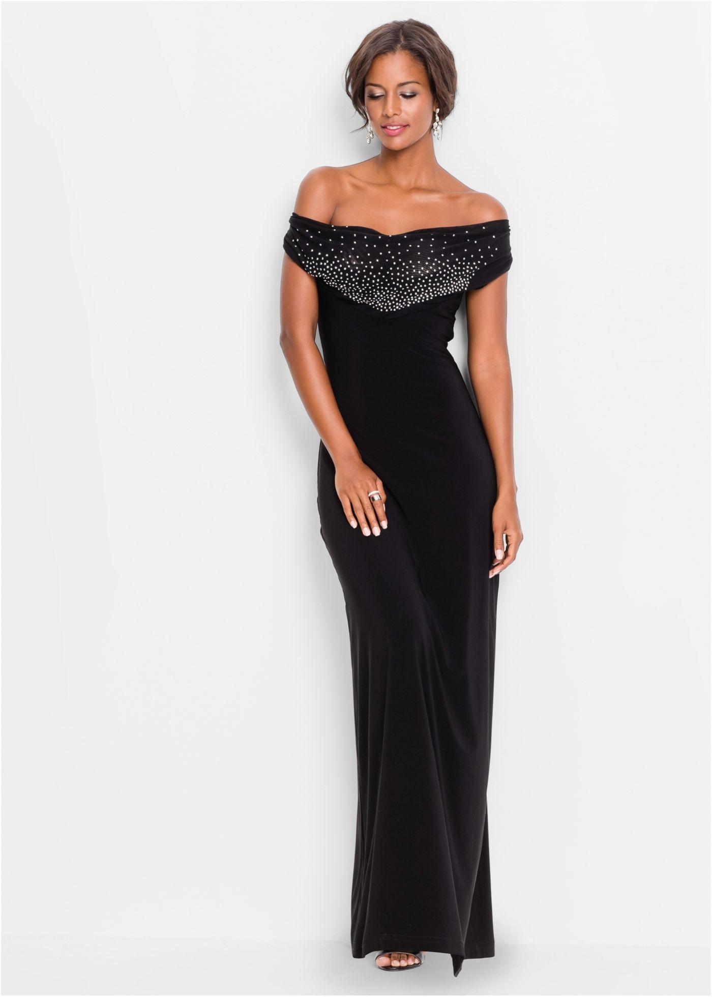 Rabatt-Sammlung jetzt kaufen online Shop Kleid mit Strasssteinen schwarz - BODYFLIRT boutique jetzt ...