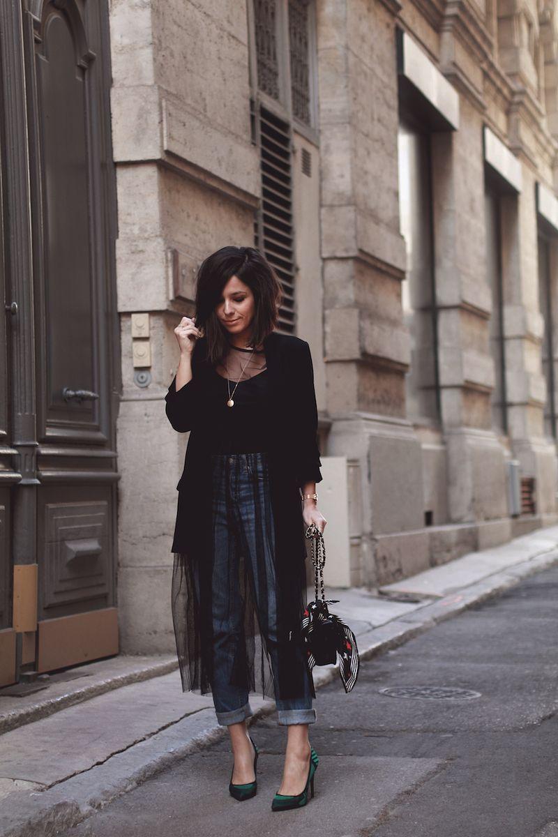blazer noir zara robe tulle transparente romwe jean. Black Bedroom Furniture Sets. Home Design Ideas