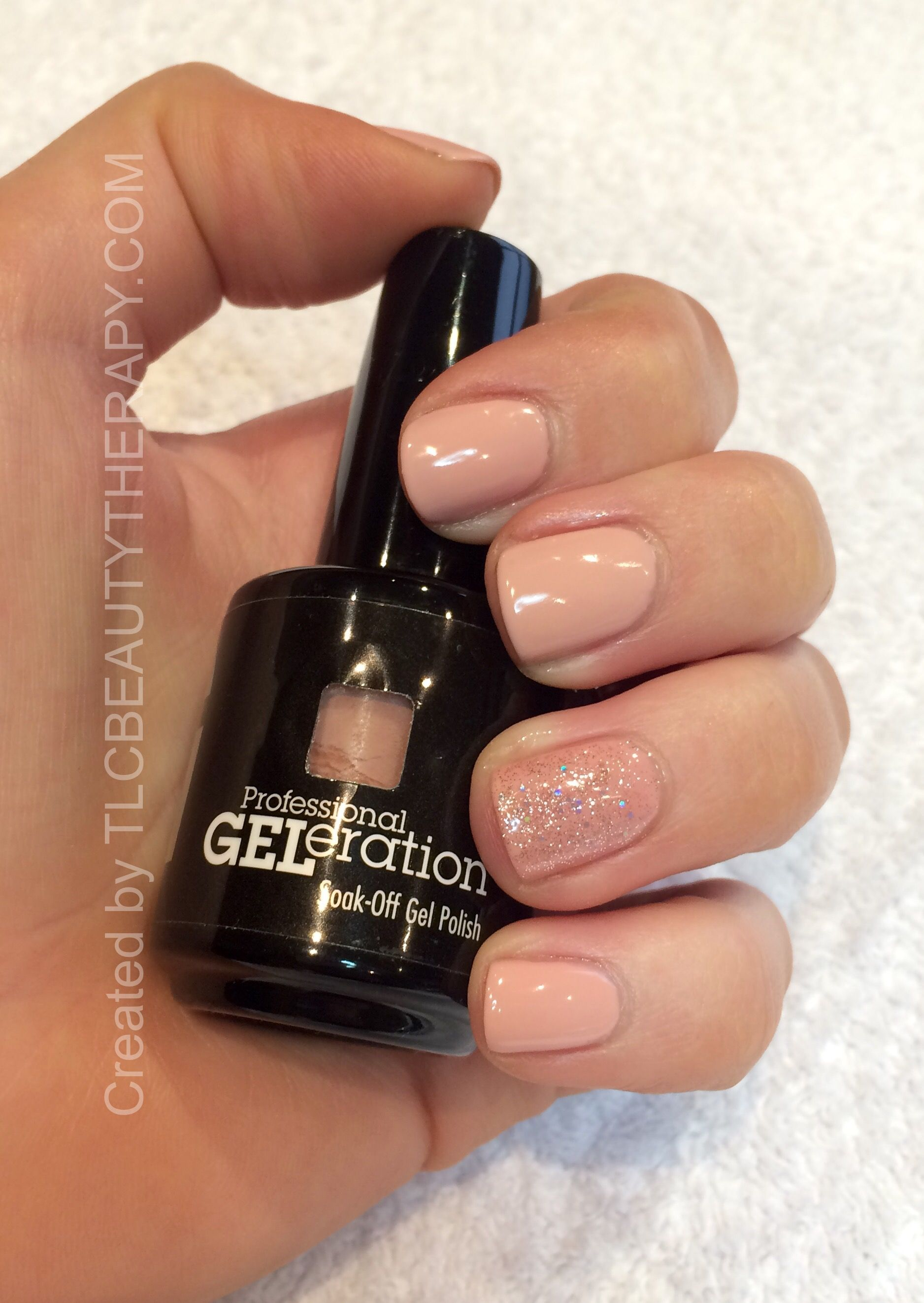 The perfect nude. Jessica GELeration gel in Naked Gun with an accent ...