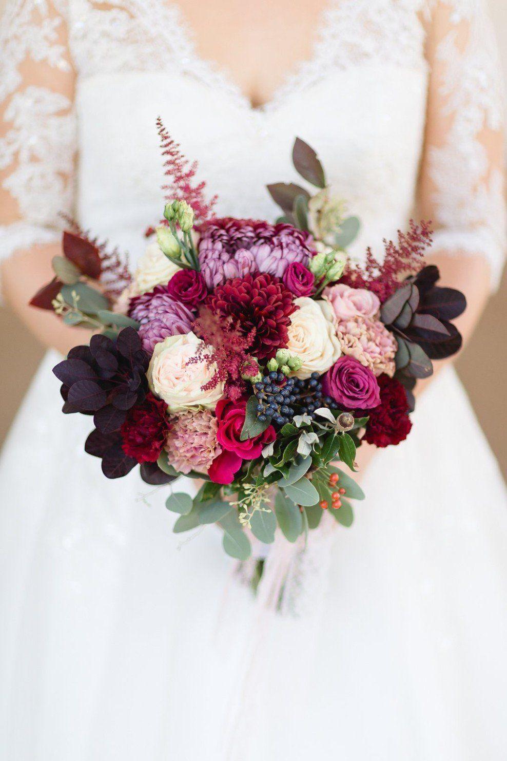 Herbst  und Winterhochzeit Blumen und Brautstrauß brautblume ...