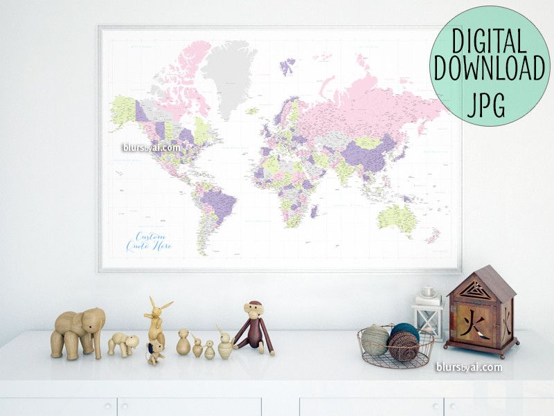 Custom quote highly detailed world map printable with cities custom quote highly detailed world map printable with cities capitals countries us gumiabroncs Image collections