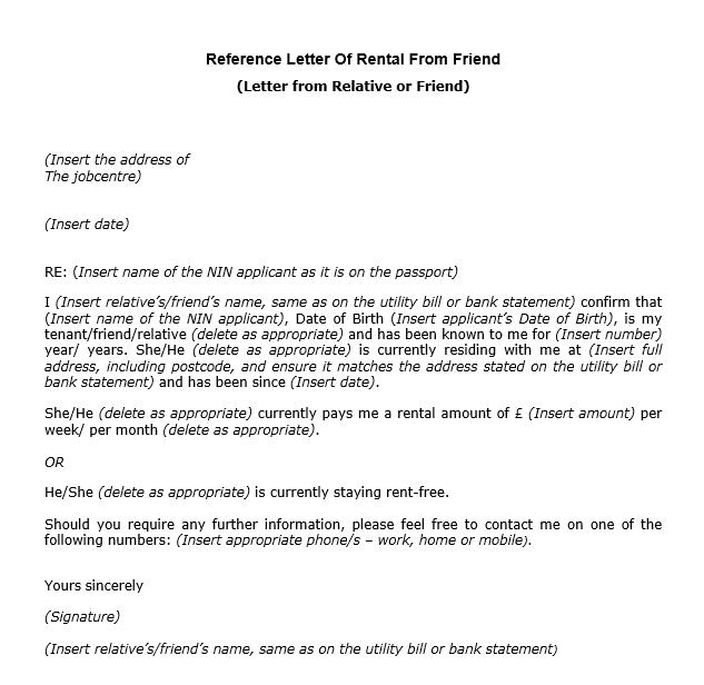 4 rental reference templates free word pdf formats reference letter templates free