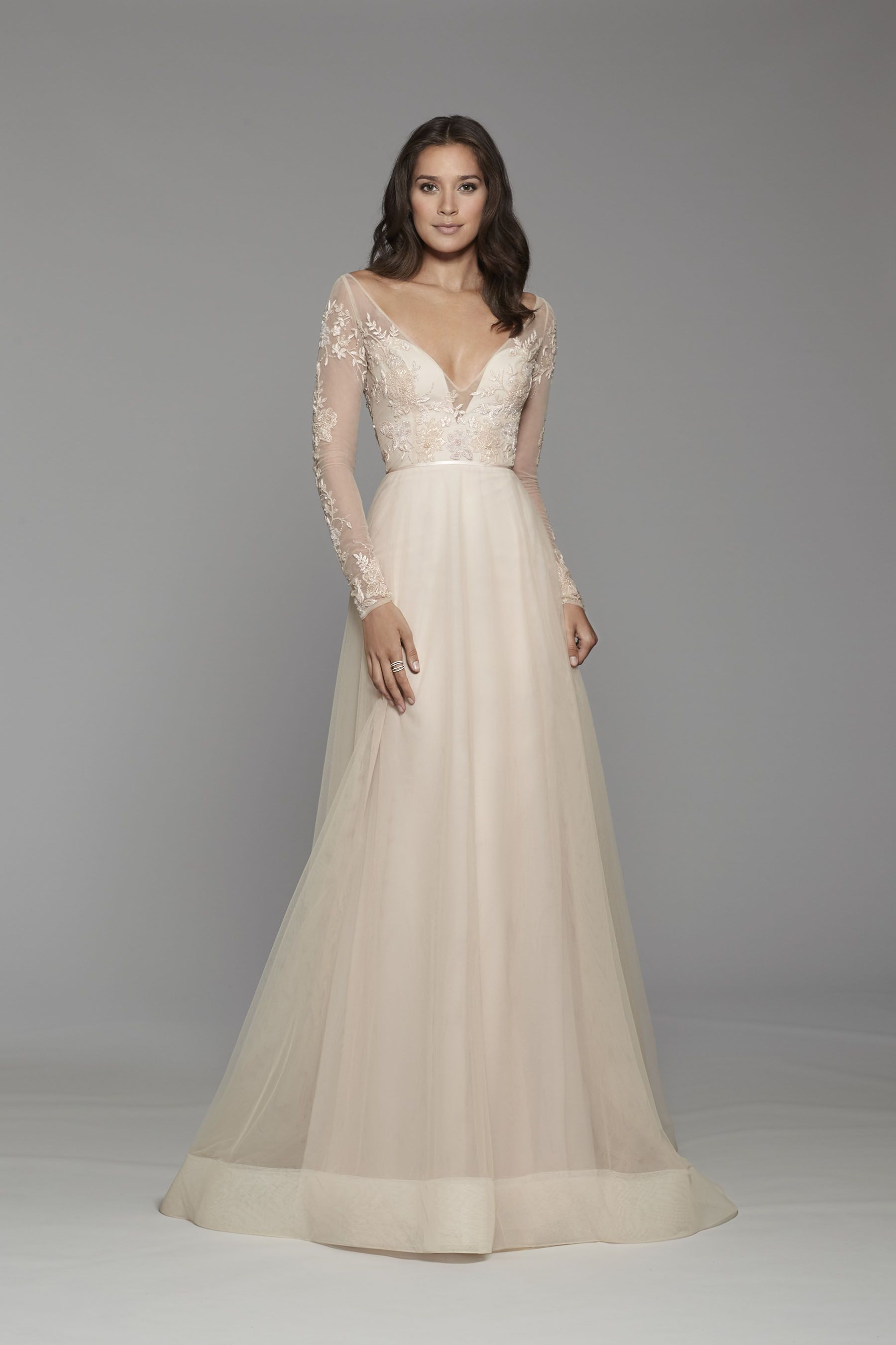 Tara Keely Bridal Style 2752 in Blush - Blush tulle Aline gown ...