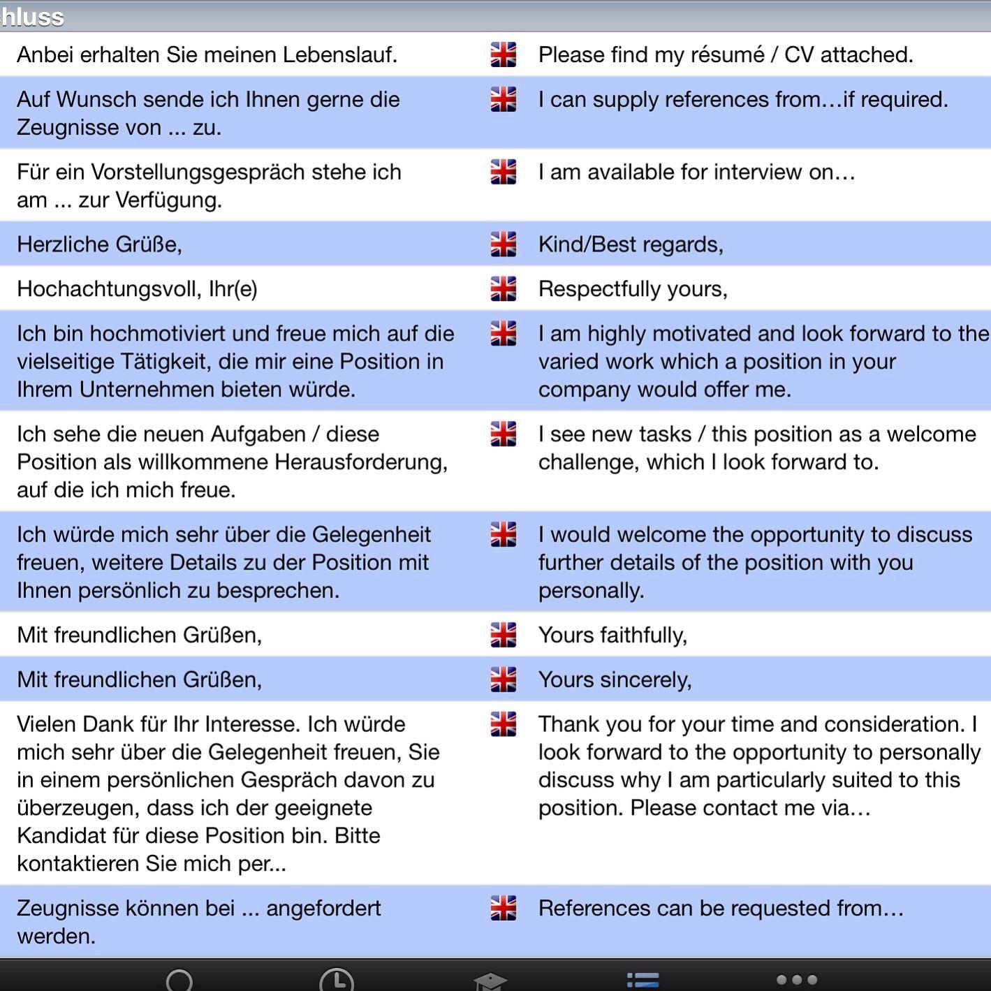 Bewerbung, anschreiben,Schluss | Deutsch | Pinterest | Learn german ...