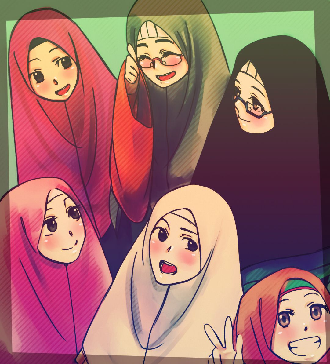 Best Old Friends By Ukhti63 On Deviantart Anime Muslimah Anime Muslim Hijab Cartoon