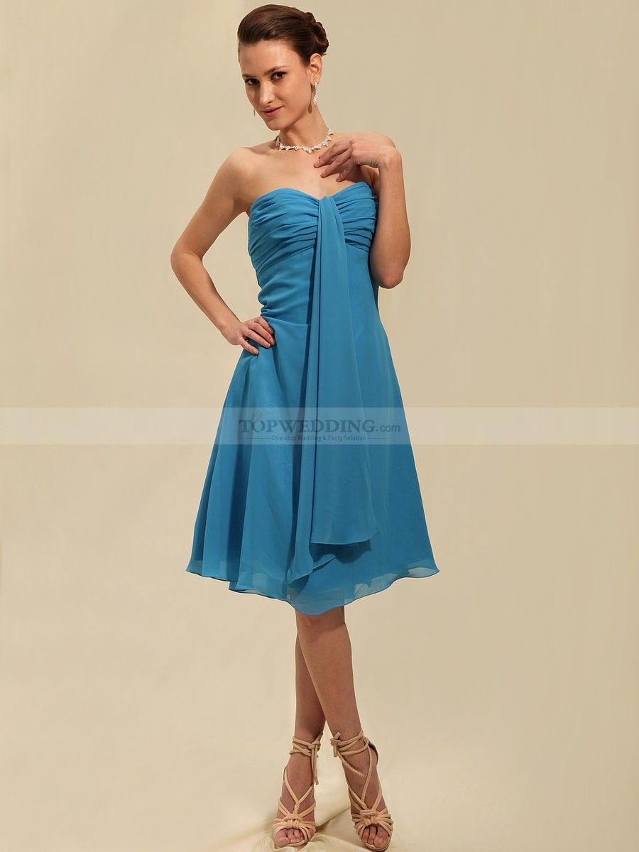 Strapless Chiffon Bridesmaid Dress with Center Ruching 0113634