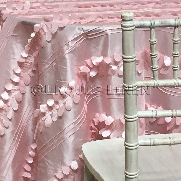 Diagonal Taffeta Tablecloth Pink Petal Table Cloth Pink