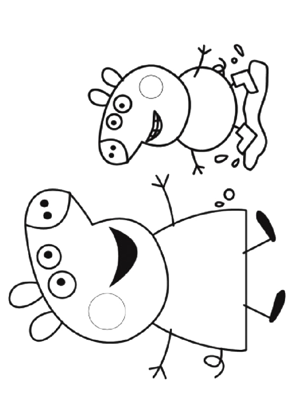 Coloriages gratuits Peppa Pig | Coloriage peppa pig ...