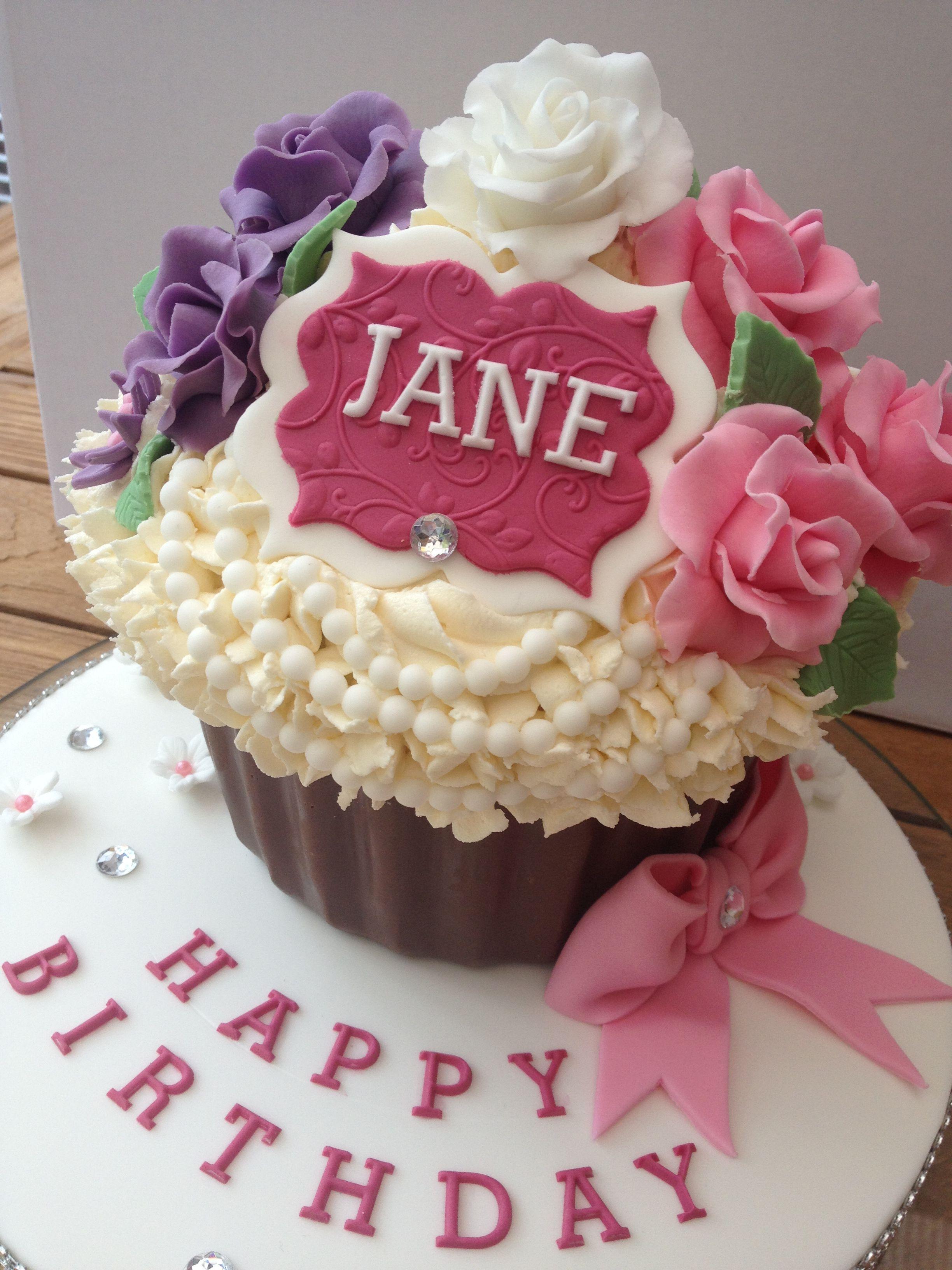 Giant cupcake birthday cake cupcake birthday cake