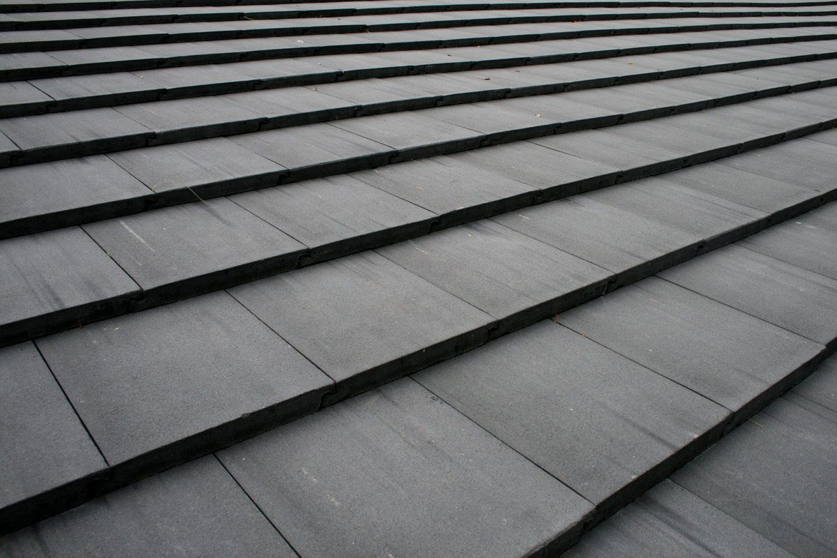 charcoal flat cement roof tile miami