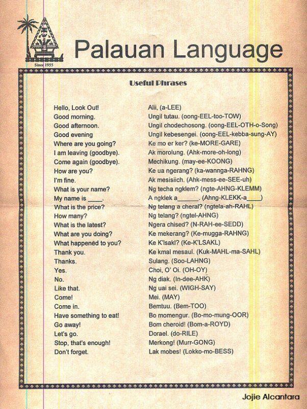 Palauan Language