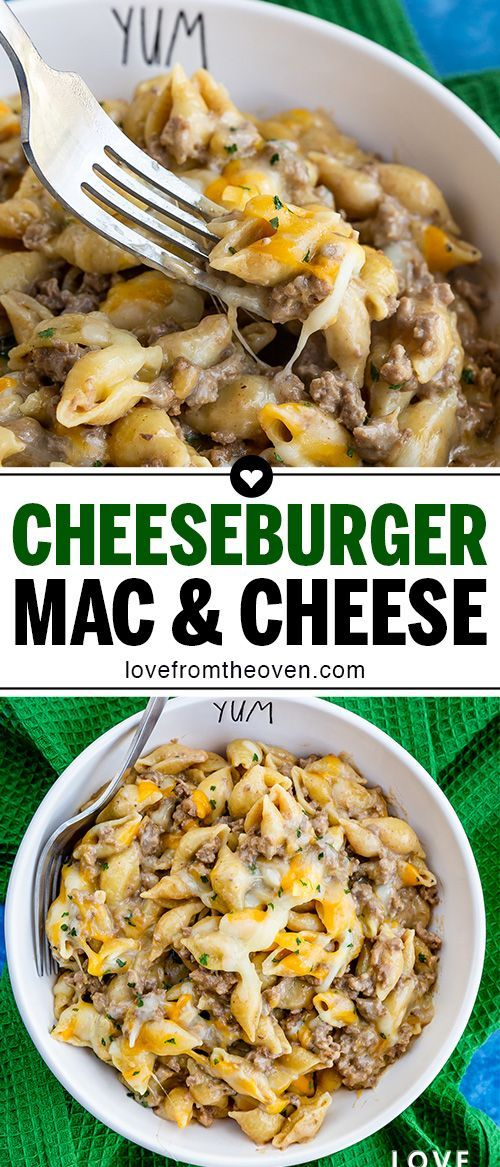 Homemade Cheeseburger Macaroni Recipe  Love From The Oven Hamburger macaroni and cheese is one of my family favorites Great easy weeknight meal Like homemade hamburger he...