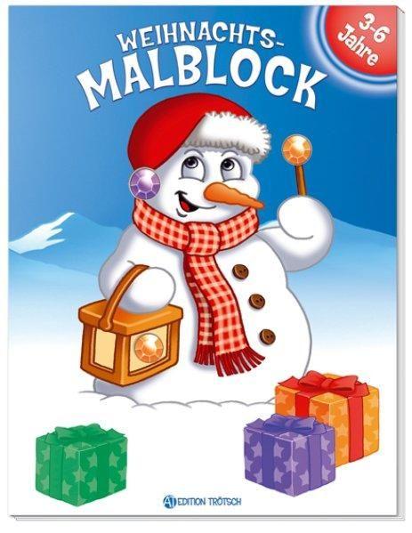 Weihnachts-Malbuch m. Glitzersteinen