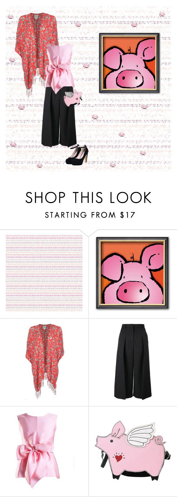 """When Pigs Fly"" by petalp ❤ liked on Polyvore featuring York Wallcoverings, Billabong, Erdem, Yanny London, women's clothing, women's fashion, women, female, woman and misses"