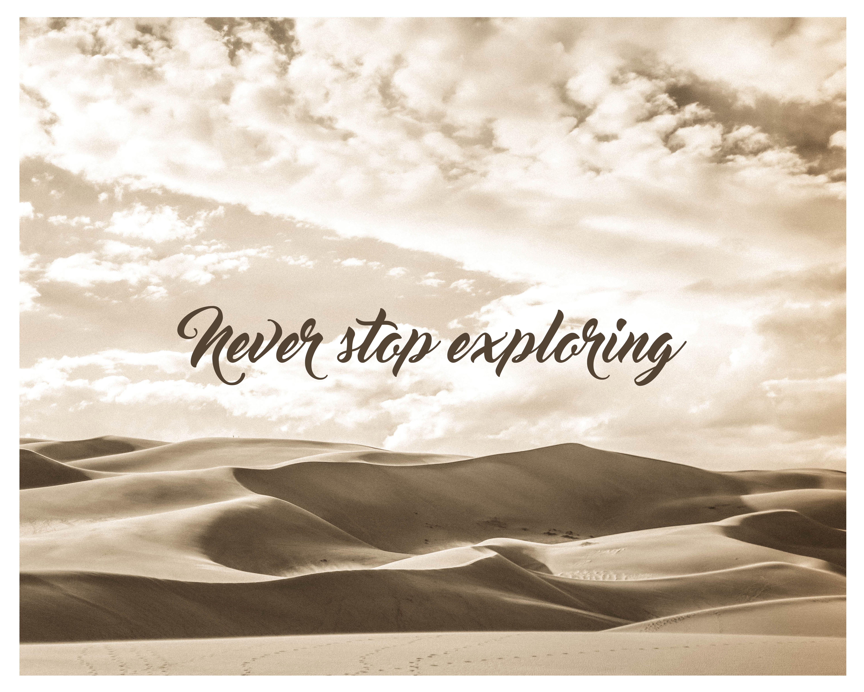 Desert Dunes Print, Home Decor, Sand Dunes, Nature Photography, Motivational Quote, Printable Wall Art