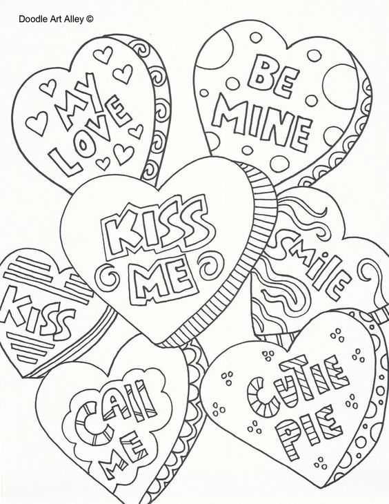 Hearts Coloring Page Valentine Coloring Pages Valentines Day