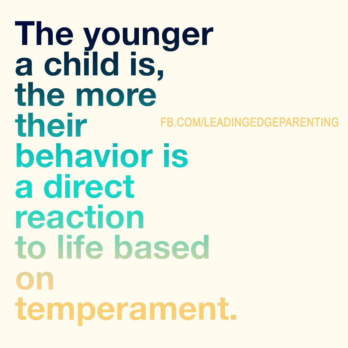 Parents have told me that their AHA moment began when they learned about the traits of temperament. It explained so much of their children's behavior and was the tipping point for learning how to respond to their parenting challenges. Is anyone out there interested in learning this stuff? I promise that it will 'rock your parenting world!'