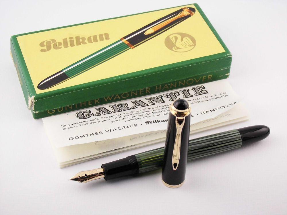 Vintage Pelikan 400nn Fountain Pen Rare 14k Manifold Nib Germany 1950s Fountain Pens Writing Pelikan Fountain Pen Fountain Pen