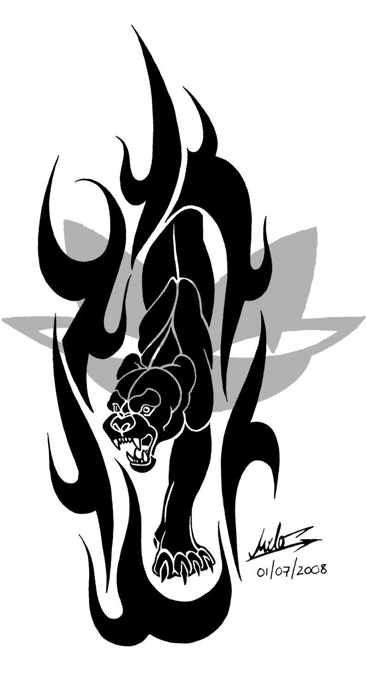 classic black tribal panther tattoo design tip pinterest rh pinterest co uk tribal black panther tattoos tribal black panther tattoos