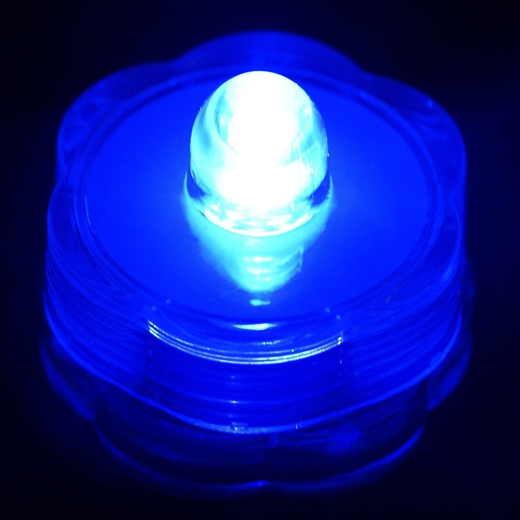 12 Pack Blue Waterproof Battery Operated Submersible Led Lights Mit Bildern