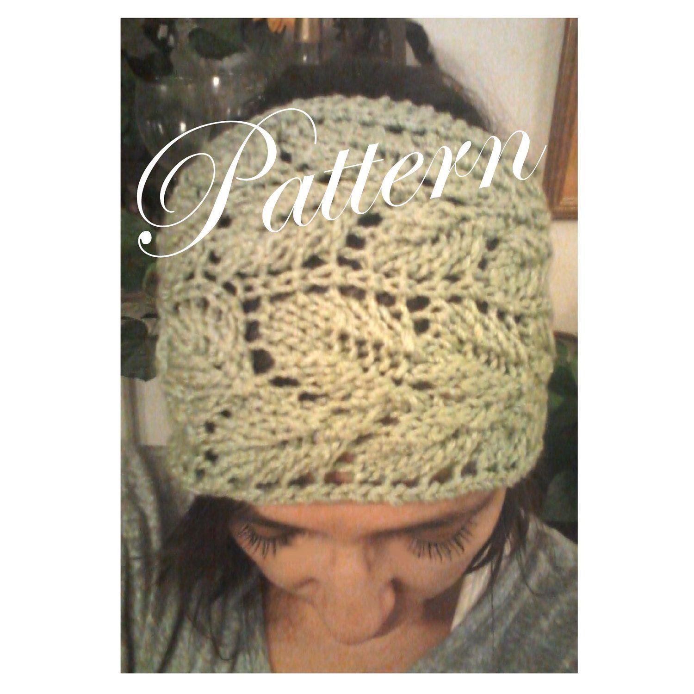 Knitted Leaf Lace Headwrap Headband Earwarmer PDF Pattern. $5.00 ...