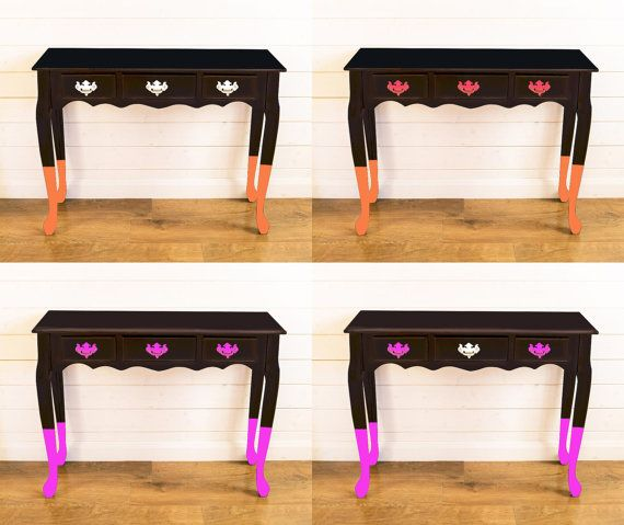 Made To Order Console Table by UpcycledRetro on Etsy