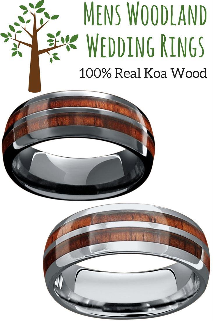 Mens vintage wood barrel wedding rings These wood wedding rings are